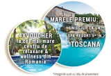 1 x sejur Spa resort Terme di Saturnia 5* Toscana, 4 x voucher wellness Therme Bucuresti