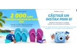 1 x voucher turistic de 2000 euro, 84 x Camera Foto Fujifilm Instax Mini 8 negru + pachet 10 hartii