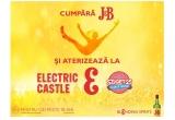 1 x pachet VIP pentru 2 persoane la festivalurile Electric Castle & Sziget Festival cu transport si cazare, 5 x pachet VIP pentru 2 persoane la festivalul Electric Castle 2017 cu transport si cazare, 100 x sticla J&B de 3 litri