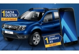 8 x mașina Dacia Duster Laureate, 448 x smartphone Samsung Galaxy A5