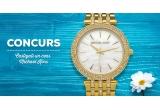 1 x ceas de lux Michael Kors auriu roz