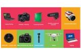 1 x Drona DJI Phantom 3 Standard, 1 x Laptop ASUS A550VX-XX286D, 1 x aparat foto Nikon D3400 cu Obiectiv 18-55mm AF-P VR, 1 x Camera video sport TOMTOM Bandit Adventure Pack 4K, 1 x 360FLY HD – Camera 360 4K, 1 x Camera DJI Osmo, 1 x Aparatfoto DSLR Canon EOS 80D + Kit suport pentru fundal + husa transport + fundal vinyl 2.72 x 6m chroma mat + Laptop Gaming ASUS ROG GL752VW-T4018D + Microfon Rode Videomic Pro R cu sistem de suspensie Rycote Lyre
