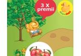 3 x HiPPofant de plus + jucarie pernuta HiPP + cutie de HiPP Biscuiti cu mar pentru copii + Baveta HiPP + 2 x HiPP Fruit-Fun Piure de fructe - banana, para si mango 90g + Carte de colorat HiPP + ascutitoare HiPP +  set creioane  de colorat + Sacosa de panza HiPP