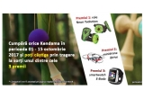 1 x smartwatch E-Boda Smart Time 300 + cartela Orange PrePay, 1 x mini drona RC iDrive, 1 x role copii Yvolution Neon Street Rollers