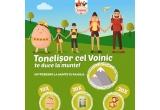 1 x Voucher pentru excursie la munte, 20 x Carte de colorat cu basmul Tonelisor cel Voinic, 10 x Mascota mini Tonelisor cel Voinic, 20 x Forma de gatit oul in tigaie