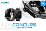 1 x Smartwatch Bluboo uWatch Negru BB-UWATCH-BK