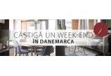 1 x weekend in doi in Danemarca, 1 x vouchet JYSK de 300 lei, 72 x voucher JYSK de 50 lei