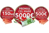 1 x 5.000 de euro, 7 x voucher Altex de 500 euro, 144 x voucher Altex de 150 lei