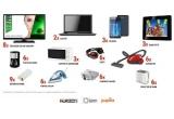 8 x Televizor LED HD Horizon, 3 x Telefon mobil, 2 x Laptop, 3 x Cuptor cu microunde, 6 x Prajitor paine, 6 x Pereche Casti, 6 x Sandwich maker, 9 x Baterie Externa- telefon, 6 x Fier de calcat, 6 x Aspirator, 6 x Filtru cafea, 3 x  Rama Foto digitala