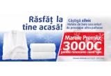 1 x 3000 euro pentru renovarea casei tale, 30 x halat de baie, 30 x set doua prosopae de baie