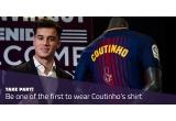 1 x tricoul primei echipe FC Barcelona sezonul 2017-2018 semnat de Philippe Coutinho