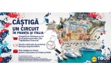 1 x circuit de 7 nopti in Franta si Italia pentru 2 persoane