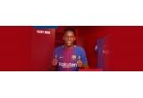 1 x tricoul primei echipe FC Barcelona sezonul 2017-2018 semnat de Yerry Mina