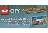 1 x excursie cu familia in Alpi de 2500 euro, 100 x set LEGO City 60182 Camioneta și Rulota