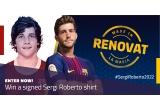 1 x tricoul primei echipe FC Barcelona sezonul 2017-2018 semnat de Sergi Roberto