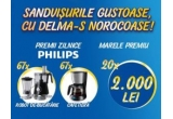 20 x 2.000 de lei, 67 x robot de bucatarie Philips, 67 x cafetiera Philips