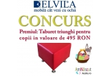 1 x Taburet pentru copii Relaxa de la Elvila