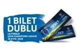1 x pachet cu cazare + transport + bilet dublu la Finala UEFA Champions League in Kyiv,