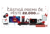 1 x Laptop HP Omen 15-CE007NQ, 1 x smartphone Samsung Galaxy S9 64GB Flash Negru, 1 x Ultrabook™ HP ENVY 13-AD004NN, 1 x pereche de Casti Stereo Sony WH-1000XM2B, 1 x Statie de calcat Rowenta Silance Steam DG8996F0, 1 x Camera video auto Navitel CR900, 1 x Televizor LED Samsung T24D391EW, 1 x E-Book Reader Bookeen SAGA, 1 x Camera video de Actiune SJCAM SJ5000WIFI-BK, 1 x pereche Casti cu Microfon CREATIVE AURVANA ANC, 1 x Multifunctional HP Deskjet Ink Advantage 3775 All-in-One + Microsoft Office 365 Personal, 1 x Mouse Pad Trust GXT 760 Glide RGB + Tastatura Gaming Iluminata Gamdias Hermes M3 + Mouse Gaming Redragon Titanoboa 2 + pereche de Casti Creative Sound Blaster Tactic 3D Rage Wireless V2.0, 1 x Acumulator extern Asus ZenPower + Boxa Portabila Creative Muvo 1c + Rucsac
