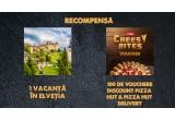 1 x excursie de 2 nopti pentru 2 persoane in Elvetia + vizita inclusa la Fabrica de branza Gruyeres + diurna – 240 lei pe zi de persoana, 100 x voucher discount 30% pentru Pizza Hut și Pizza Hut Delivery pentru pizza Extra Cheesy Bites