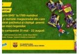 1 x excursie la Barcelona pentru maxim 4 persoane, 24 x geanta pentru echipament sportiv, 252 x minge cu logo-ul Nesquik si Barcelona, 84 x Rucsac de laptop cu logo-ul Nesquik si Barcelona