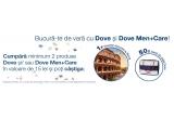 1 x excursie pentru doua persoane la Roma, 50 x geanta Dove de plaja