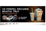 """1 x masina Toyota Aygo, 12.650 x premiu constand in un bilet la un film la Cinema City, 1.270 x invitatie dubla la un film la Cinema City, 717.500 x premiu """"1 bilet +1 bilet Gratuit"""", 100 x bilet 4 DX gratuit, 40.000 x produs de ciocolata Mars, 529.800 x premiu la barul/cafeneaua din incinta Cinema City Romania, 13.030 x 1 popcorn mediu gratuit,"""