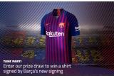 1 x tricou FC Barcelona sezonul 2018-2019 semnat de Arthur