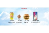9 x iPhone X, 60.000 x voucher bautura medie Lipton, 40.000 x voucher inghetata Mc Sundae, 30.000 x voucher sandwich Big Mac