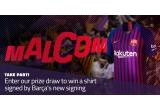 1 x tricou FC Barcelona sezonul 2018-2019 semnat de Malcom