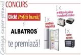 1 x combina frigorifica Albatros, 1 x cuptor electric Albatros, 1 x prajitor de paine + sandwich maker Albatros