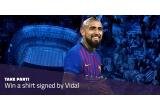 1 x tricou FC Barcelona sezonul 2018-2019 semnat de Vidal
