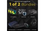 1 x cooler CPU H100i Pro RGB + sursa de alimentare RM750x + trei ventilatoare ML Pro RGB, 1 x tastatura fara fir K63 + panou K63 + mouse Dark Core SE + set cu caști HS70