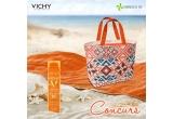 5 x kit complet de plaja Vichy (Geanta Vichy + prosop Vichy + Vichy Spray protector invizibil SPF50)