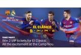 1 x 2 bilete de avion + 2 bilete VIP la meciul de fobal FC Barcelonei vs Real Madrid in sezonul 2018/2019 + transfer + cazare