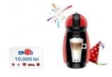 1 x 10.000 de lei, 20 x espressor Nescafe Dolce Gusto Piccolo Red