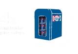 4 x Lada frigorifica Norad N35 inscriptionata cu logo Pepsi plina cu produse Pepsi 0.33L (24 buc), 1000 x Pahar Pepsi, 250 x Geanta Pepsi, 492 x Tricou Pepsi, 14000 x Doritos Taco 100gr