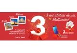 3 x voucher TXM de 500 ron, 3 x smartphone Samsung Galaxy S9, 3 x excursie pentru 2 persoane la Roma/Milano si Paris