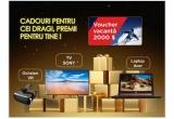 1 x voucher de vacanta de 2000 euro, 1 x Laptop GAMER, 3 x Ochelari VR, 1 x Televizor, 150 x Cos produse COTY