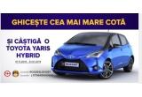 1 x masina Toyota Yaris Hybrid, 5 x Smartphone iPhone 8 Plus, 5 x Smartphone Samsung S9, 20 x Bicicleta marca Velors