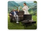 14 x pachet de relaxare compus dintr-un televizor si o canapea (televizor ULTRA HD 4K Smart TV 100 cm Samsung UE40MU6102 + canapea Pasadena ZY17 cu 3 locuri si 2 reclinere)
