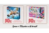 50 x jucarie Set LEGO City. Transport aerian arctic pentru baieti, 50 x Set Party POP Teenies pentru fete