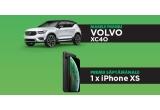 1 x mașina Volvo XC40, 11 x iPhone XS