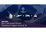 1 x 2 bilete de avion + 2 bilete VIP la un meci de fobal al FC Barcelonei in sezonul Champions League round 16 2018/2019 pe Camp Nou + transfer + cazare