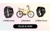 3 x bicicleta DHS, 1 x ceas Fitbit Ionic, 1 x ceas Fitbit Versa