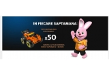 500 x Masina cu telecomanda Nikko iDrive Nano VaporizR 2 portocaliu cu baterii incluse