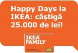 1 x card-cadou IKEA 25.000 de lei, 100 x card cadou IKEA de 250 de lei