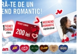 2 x weekend romantic in valoare de 3000 lei, 14 x voucher de 200 lei