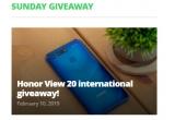 1 x smartphone Huawei Honor View 20