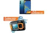 1 x smartphone Samsung Galaxy A9, 9 x camera subacvatica